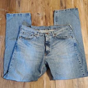 Wrangler Men's Blue Denim Relaxed Fit Jeans